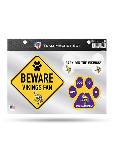 Vikings Pet Magnet 3 Piece Set