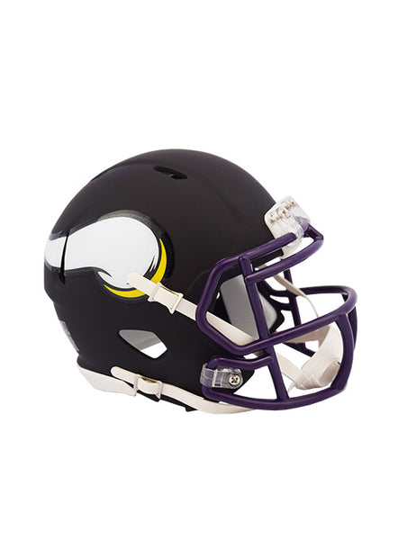 b6799548b28 Vikings Riddell Flat Black Collection Mini Helmet