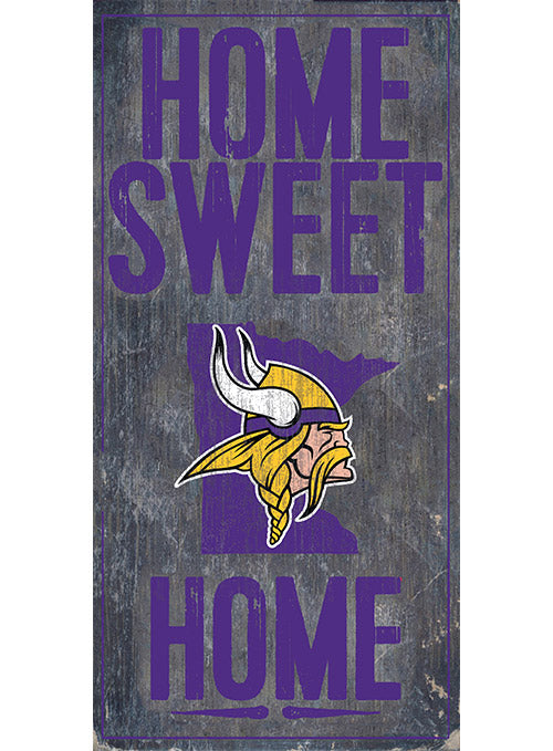"Vikings 6"" x 12"" Home Sweet Home Sign"