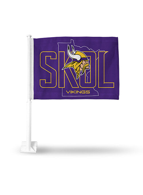 Vikings SKOL Car Flag