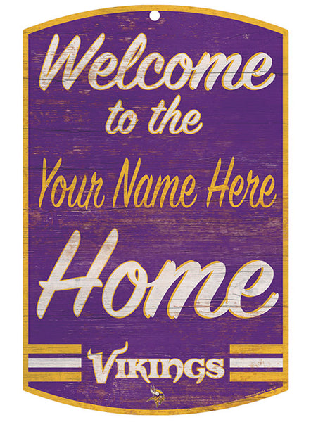 Vikings Personalized 11'' x 17'' ''Welcome'' Sign