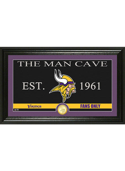 Vikings Man Cave Bronze Coin Panoramic Photo Mint