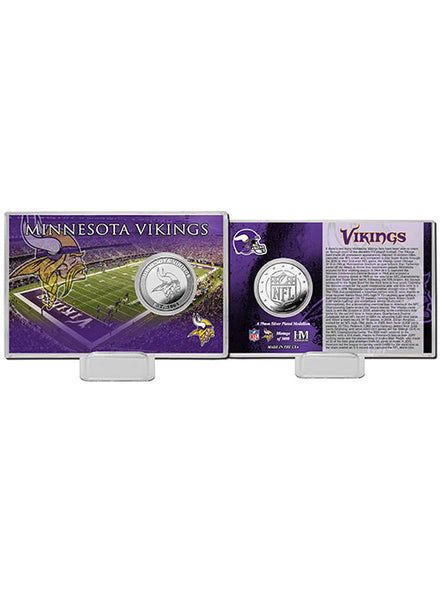 Minnesota Vikings History Silver Coin Card