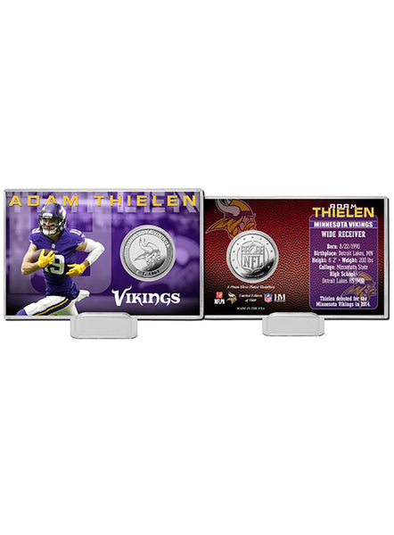 Adam Thielen Silver Coin Card