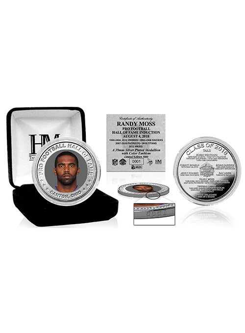Randy Moss 2018 Pro Football HOF Induction Silver Color Coin