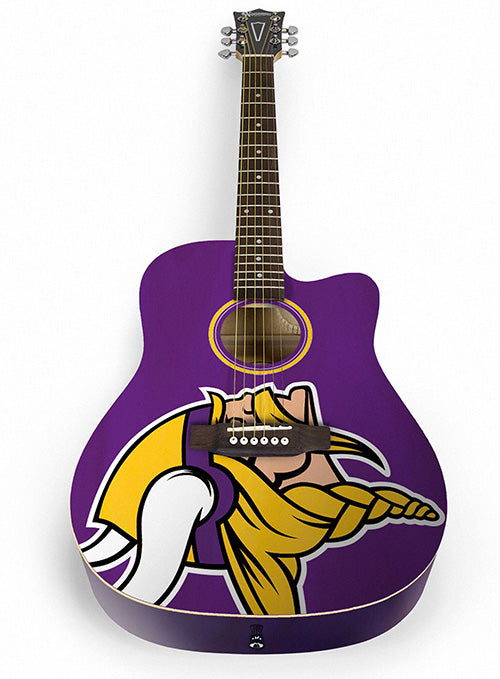 Minnesota Vikings Acoustic Guitar