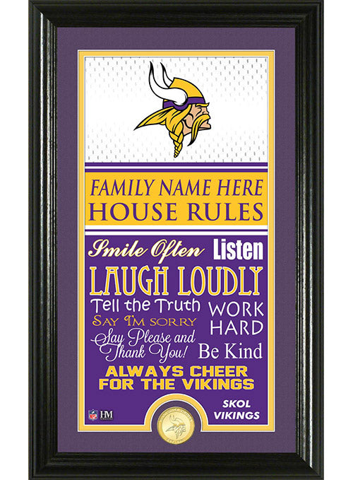 Vikings Personalized House Rules Photo Mint