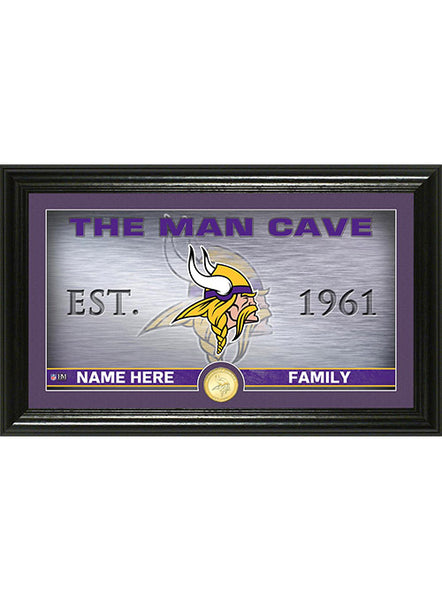 Vikings Personalized Man Cave Photo Mint
