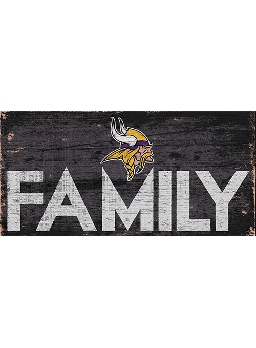 "Vikings 6"" x 12"" Family Sign"
