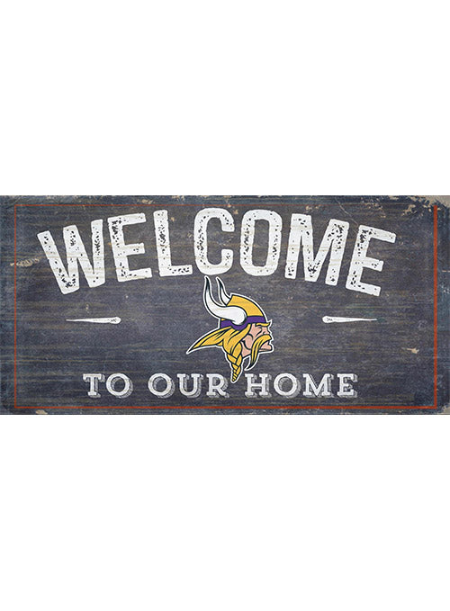 "Vikings 11"" x 19"" Welcome To Our Home Sign"