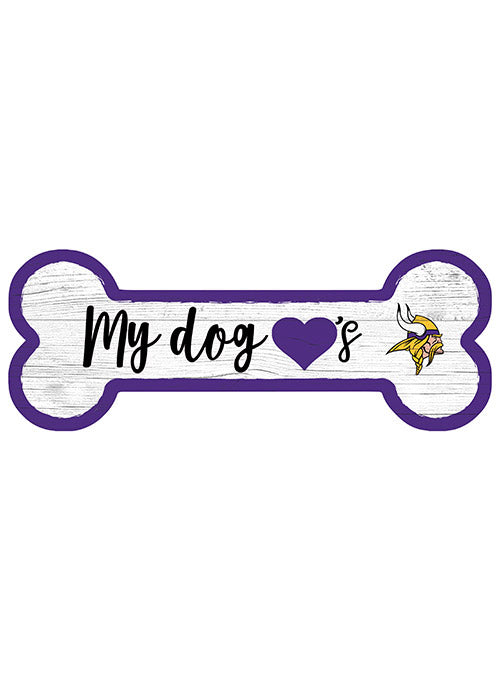 "Minnesota Vikings 6"" x 12"" Dog Bone Sign"