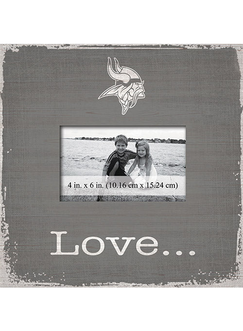 "Vikings 10"" x 10"" Love Picture Frame"