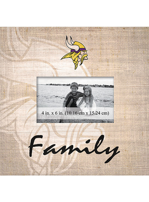 "Vikings 10"" x 10"" Family Picture Frame"