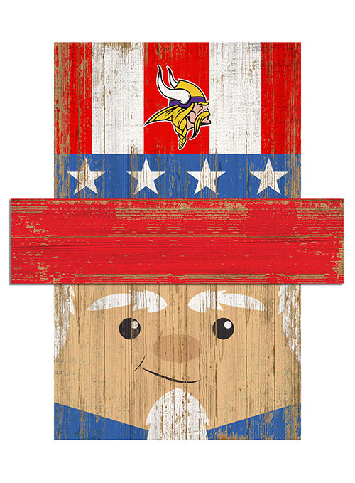 "Vikings 16"" x 19"" Patriotic Head"