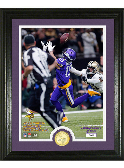 Adam Thielen Spectacular Moments Bronze Coin Photo Mint