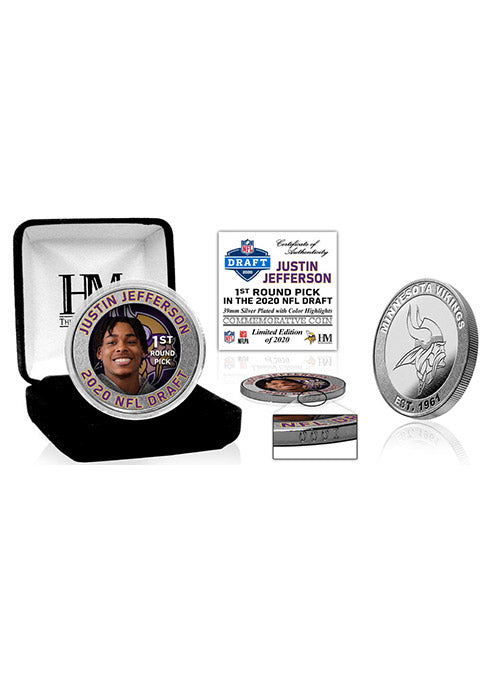 Justin Jefferson 2020 NFL Draft 1st Round Silver Coin