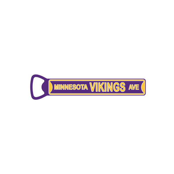 "Minnesota Vikings  Steel Bottle Opener 7"" Magnet"