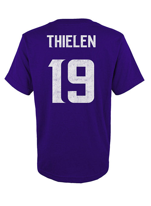 Toddler Vikings Adam Thielen Player T-Shirt