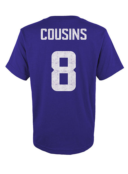 Youth Vikings Kirk Cousins Player T-Shirt