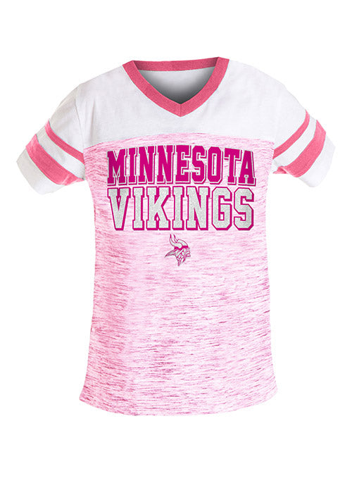 Girls 5th & Ocean Vikings Space Dye Yoke T-Shirt