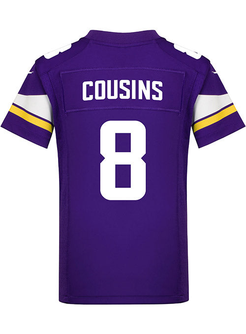 Youth Minnesota Vikings Kirk Cousins Nike Purple Game Jersey