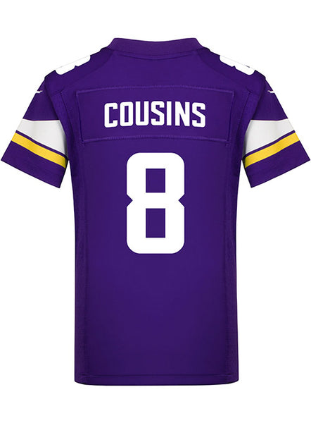 separation shoes de719 88c39 Youth Minnesota Vikings Kirk Cousins Nike Purple Game Jersey | Kids'  Vikings Jerseys | Vikings Locker Room
