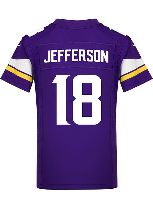 Youth Minnesota Vikings Justin Jefferson Nike Purple Game Jersey