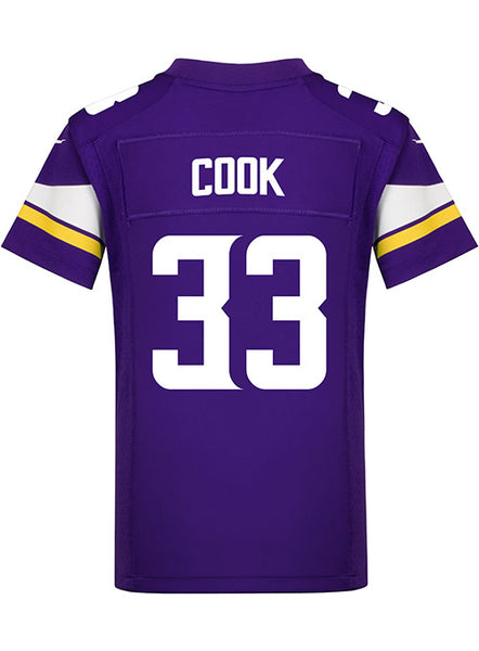 Youth Minnesota Vikings Dalvin Cook Nike Purple Game Jersey