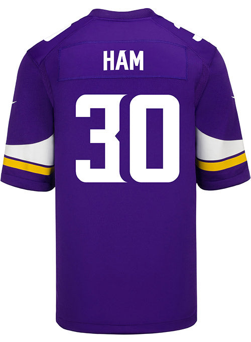 Men's Minnesota Vikings C.J. Ham Nike Purple Game Jersey