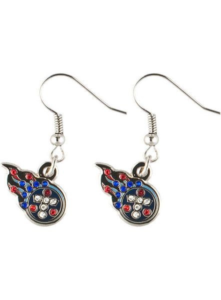 Youth Group Room Colors: Titans Dangle Rhinestone Earrings