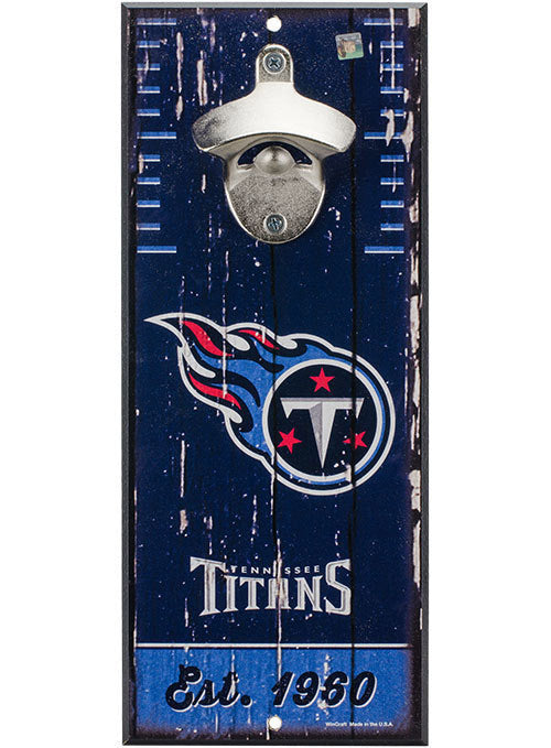 Titans 5'' x 12'' Bottle Opener Wood Sign