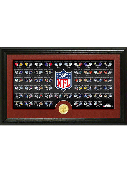 Super Bowl History Panoramic Bronze Coin Photo Mint