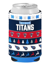 Titans Ugly Sweater Collapsible Can Coozie