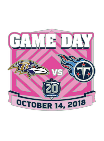 2018 Titans vs. Ravens Gameday Hatpin