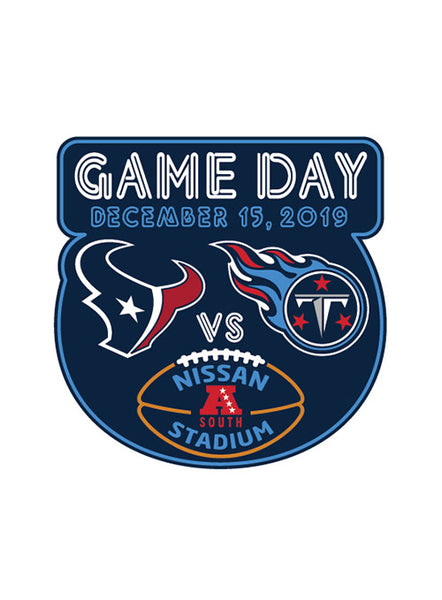 2019 Titans vs. Texans Gameday Hatpin