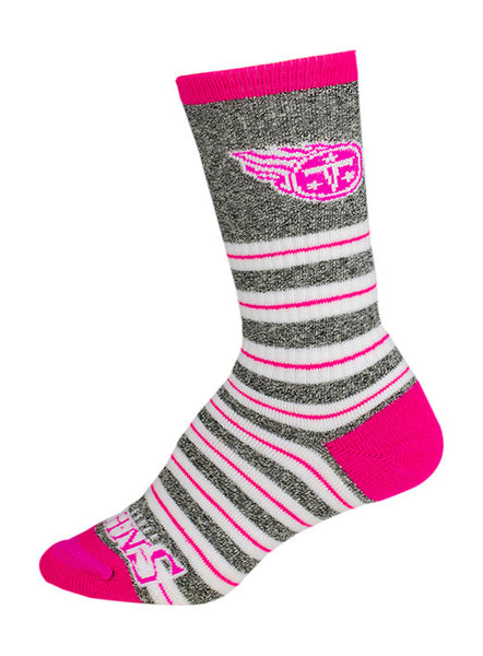 Titans Ladies Pink Stripe Socks