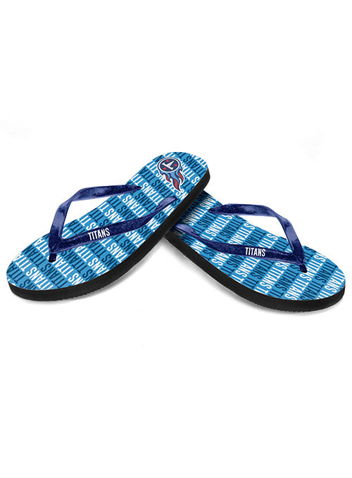 Titans Ladies Repeat Wordmark Flip Flops