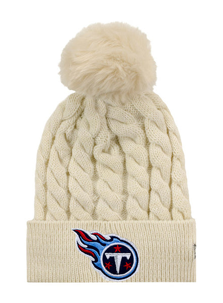 Ladies Titans Cable Knit Hat  b0fe4fca255