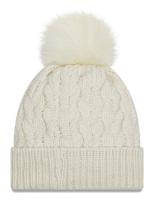 Titans New Era Ladies White Flurry Knit Hat