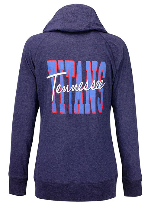 Ladies 5th & Ocean Titans Logo Full Zip Hooded Sweatshirt