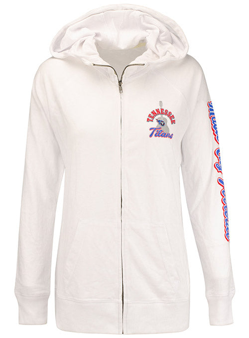 Ladies 5th & Ocean Titans Music City Full Zip Hooded Sweatshirt