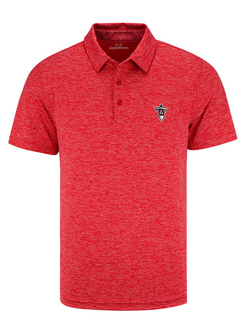 Tennessee Titans Vineyard Vines Sword Logo Destin Striped Sankaty Polo