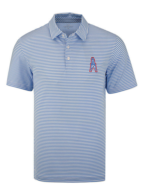 Tennessee Titans Vineyard Vines Winstead Striped Oilers Logo Polo