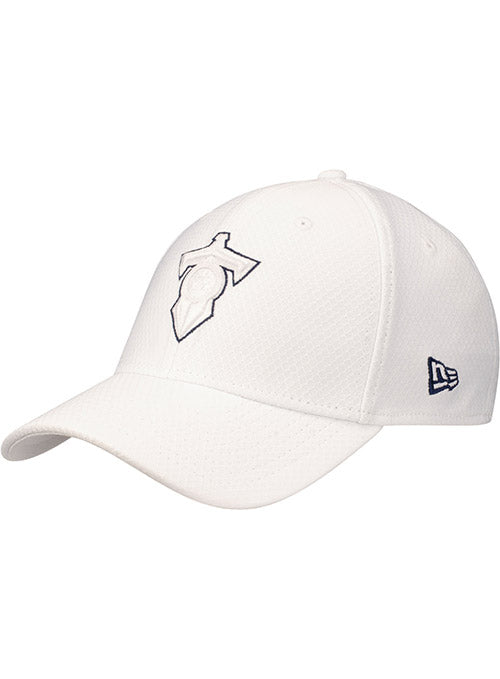 Titans New Era Hex Tech White 39THIRTY Flex Hat