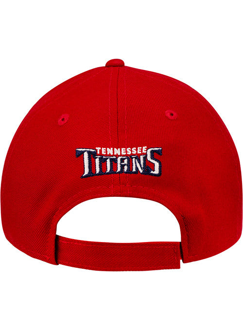 Titans New Era Red  Sword Logo 9FORTY Adjustable Hat