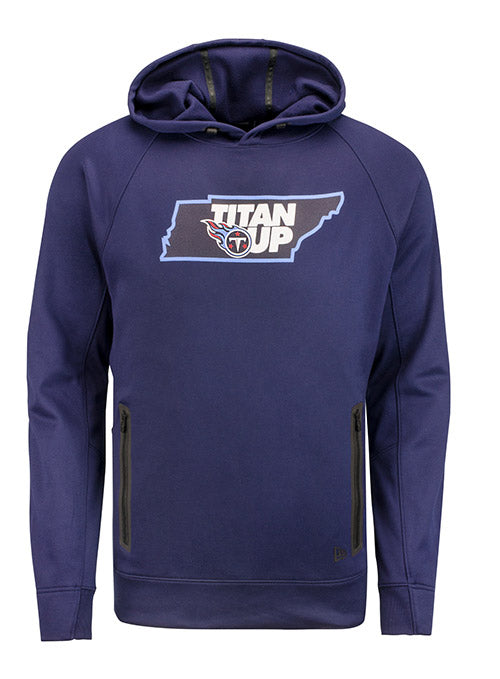 New Era Titans State Outline Performance Hooded Sweatshirt