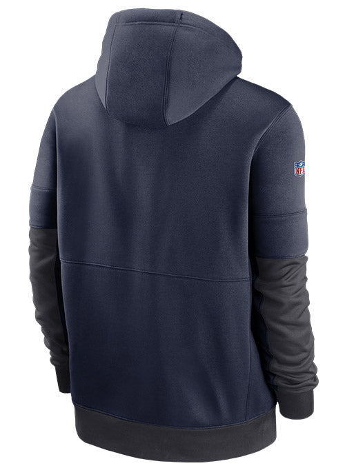 Nike Titans Sideline Impact Lockup Performance Full Zip Hooded Sweatshirt