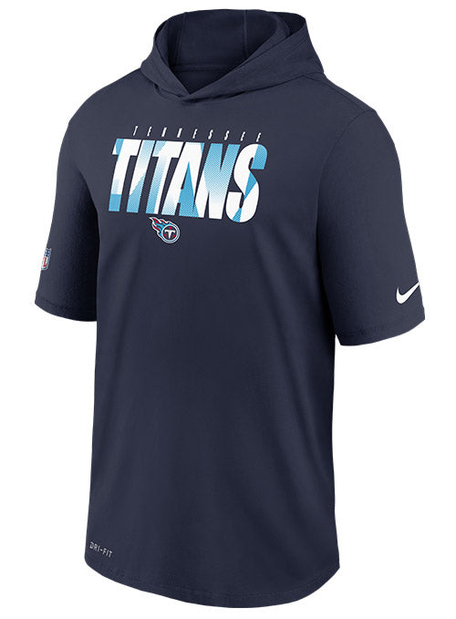 Nike Titans Sideline Training Short Sleeve Hooded T-Shirt
