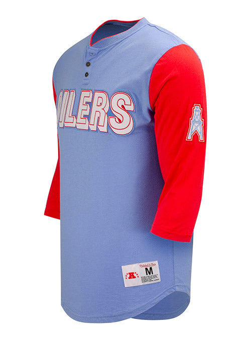 Mitchell & Ness Oiler Franchise 3/4 Sleeve Henley