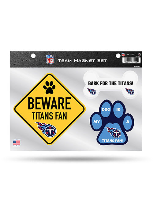 Titans 3 Piece Pet Magnet Set